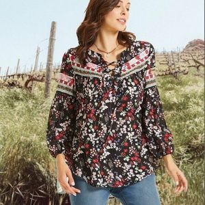 Gorgeous Autumn Floral Long Sleeve Top